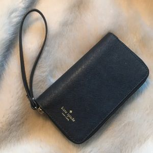 Black Kate Spade iPhone X Case Wristlet